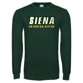 Dark Green Long Sleeve T Shirt-Swimming-Diving