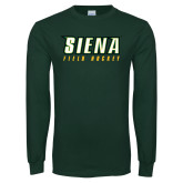 Dark Green Long Sleeve T Shirt-Field Hockey
