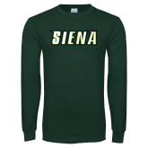 Dark Green Long Sleeve T Shirt-Siena