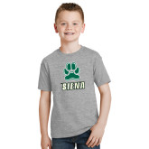 Youth Grey T-Shirt-Siena w/Paw