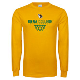Gold Long Sleeve T Shirt-Basketball Sharp Net