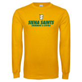 Gold Long Sleeve T Shirt-Swimming and Diving Design