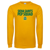 Gold Long Sleeve T Shirt-Pep Squad Stacked