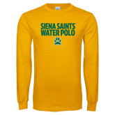 Gold Long Sleeve T Shirt-Water Polo Stacked