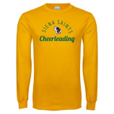Gold Long Sleeve T Shirt-Cheerleading Script Design