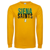 Gold Long Sleeve T Shirt-Siena Saints Stacked