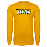 Gold Long Sleeve T Shirt-Pep Band