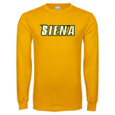 Gold Long Sleeve T Shirt-Siena Distressed