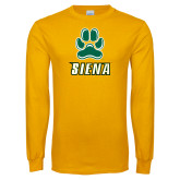 Gold Long Sleeve T Shirt-Siena w/Paw