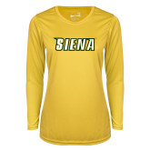Ladies Syntrel Performance Gold Longsleeve Shirt-Siena