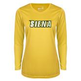 Ladies Syntrel Performance Gold Longsleeve Shirt-Siena