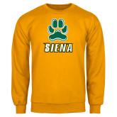 Gold Fleece Crew-Siena w/Paw