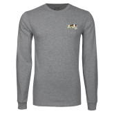 Grey Long Sleeve TShirt-Official Logo