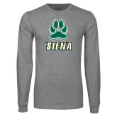 Grey Long Sleeve TShirt-Siena w/Paw