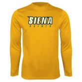 Performance Gold Longsleeve Shirt-Siena Saints