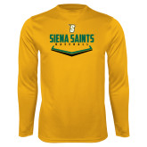 Performance Gold Longsleeve Shirt-Baseball Plate Design
