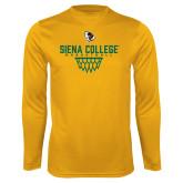 Performance Gold Longsleeve Shirt-Basketball Sharp Net