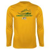 Performance Gold Longsleeve Shirt-Cross Country Shoe Design