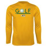 Performance Gold Longsleeve Shirt-Golf Ball Design