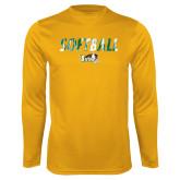 Performance Gold Longsleeve Shirt-Distressed Softball