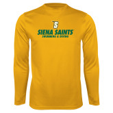 Performance Gold Longsleeve Shirt-Swimming and Diving Design