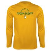 Performance Gold Longsleeve Shirt-Volleyball Ball Design