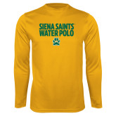 Performance Gold Longsleeve Shirt-Water Polo Stacked