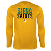 Syntrel Performance Gold Longsleeve Shirt-Siena Saints Stacked