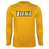 Performance Gold Longsleeve Shirt-Siena