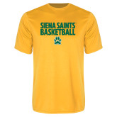 Syntrel Performance Gold Tee-Siena Saints Basketball