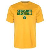 Performance Gold Tee-Siena Saints Basketball