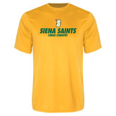 Performance Gold Tee-Cross Country Design