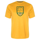 Syntrel Performance Gold Tee-Soccer Shield Design