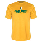 Performance Gold Tee-Swimming and Diving Design