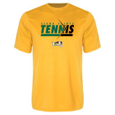 Syntrel Performance Gold Tee-Tennis Abstract Net