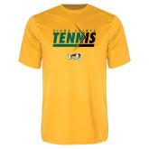 Performance Gold Tee-Tennis Abstract Net