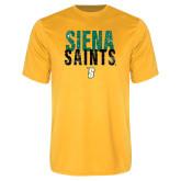 Performance Gold Tee-Siena Saints Stacked