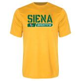 Performance Gold Tee-Siena Saints Bar Design