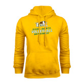 Gold Fleece Hood-Volleyball Stacked