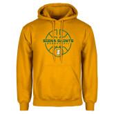 Gold Fleece Hoodie-Basketball Court Design