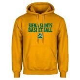 Gold Fleece Hoodie-Siena Saints Basketball
