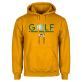 Gold Fleece Hoodie-Golf Ball Design