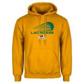 Gold Fleece Hoodie-Modern Lacrosse Design
