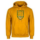 Gold Fleece Hoodie-Soccer Shield Design