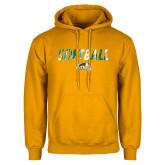 Gold Fleece Hoodie-Distressed Softball