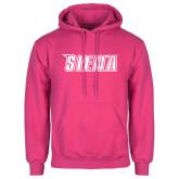Fuchsia Fleece Hood-Siena