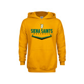 Youth Gold Fleece Hoodie-Baseball Plate Design