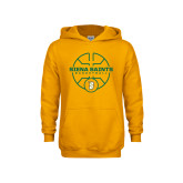 Youth Gold Fleece Hoodie-Basketball Court Design