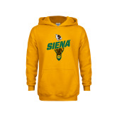 Youth Gold Fleece Hoodie-Lacrosse Stick Design