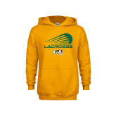 Youth Gold Fleece Hoodie-Modern Lacrosse Design